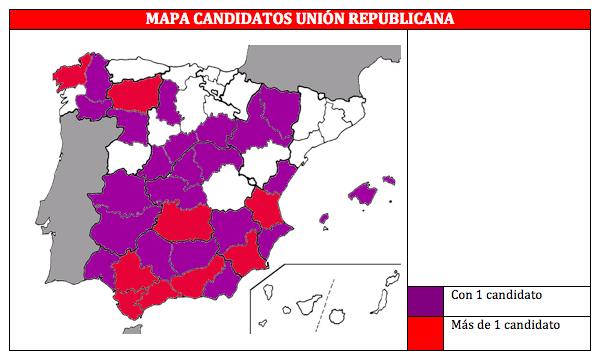 Mapa de candidatos de Unión Republicana